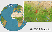 Satellite Location Map of Samoghohiri
