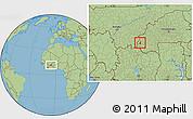 Savanna Style Location Map of Samoghohiri