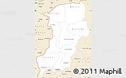 Classic Style Simple Map of Kenedougou