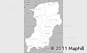 Gray Simple Map of Kenedougou