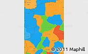 Political Simple Map of Kenedougou