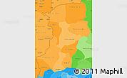 Political Shades Simple Map of Kenedougou