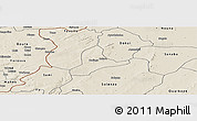 Shaded Relief Panoramic Map of Balave