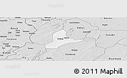 Silver Style Panoramic Map of Balave