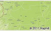 Physical 3D Map of Nouna