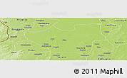 Physical Panoramic Map of Nouna