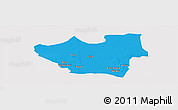 Political Panoramic Map of Nouna, cropped outside