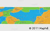Political Panoramic Map of Nouna