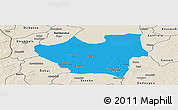 Political Panoramic Map of Nouna, shaded relief outside