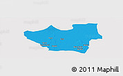 Political Panoramic Map of Nouna, single color outside