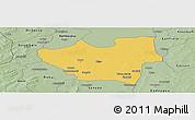 Savanna Style Panoramic Map of Nouna