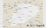 Classic Style Panoramic Map of Kossi