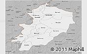 Gray Panoramic Map of Kossi
