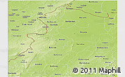 Physical Panoramic Map of Kossi