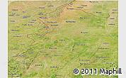 Satellite Panoramic Map of Kossi