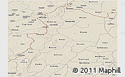 Shaded Relief Panoramic Map of Kossi
