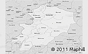 Silver Style Panoramic Map of Kossi