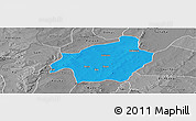 Political Panoramic Map of Solenzo, desaturated