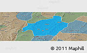 Political Panoramic Map of Solenzo, semi-desaturated