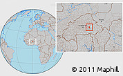 Gray Location Map of Andemtenga