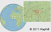 Savanna Style Location Map of Andemtenga
