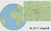 Savanna Style Location Map of Gounghin