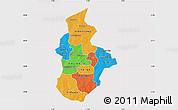 Political Map of Kouritenga, cropped outside