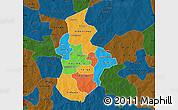 Political Map of Kouritenga, darken