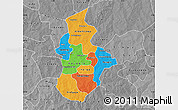 Political Map of Kouritenga, desaturated