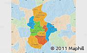 Political Map of Kouritenga, lighten