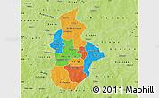 Political Map of Kouritenga, physical outside