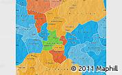 Political Map of Kouritenga, political shades outside