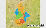 Political Map of Kouritenga, satellite outside