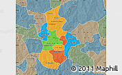 Political Map of Kouritenga, semi-desaturated