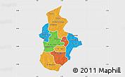 Political Map of Kouritenga, single color outside