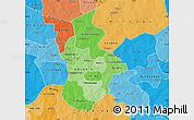 Political Shades Map of Kouritenga