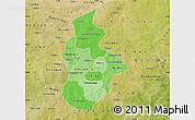 Political Shades Map of Kouritenga, satellite outside