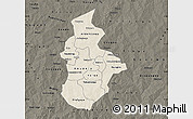 Shaded Relief Map of Kouritenga, darken