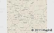 Shaded Relief Map of Kouritenga