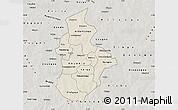 Shaded Relief Map of Kouritenga, semi-desaturated