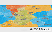 Satellite Panoramic Map of Kouritenga, political shades outside