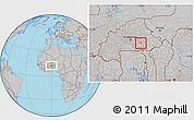 Gray Location Map of Tensobtenga