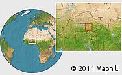 Satellite Location Map of Tensobtenga