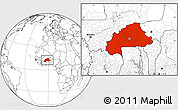 Blank Location Map of Burkina Faso