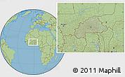 Savanna Style Location Map of Burkina Faso, hill shading inside