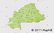 Physical Map of Burkina Faso, cropped outside
