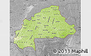Physical Map of Burkina Faso, desaturated