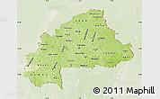 Physical Map of Burkina Faso, lighten