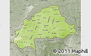 Physical Map of Burkina Faso, semi-desaturated, land only