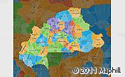 Political Map of Burkina Faso, darken